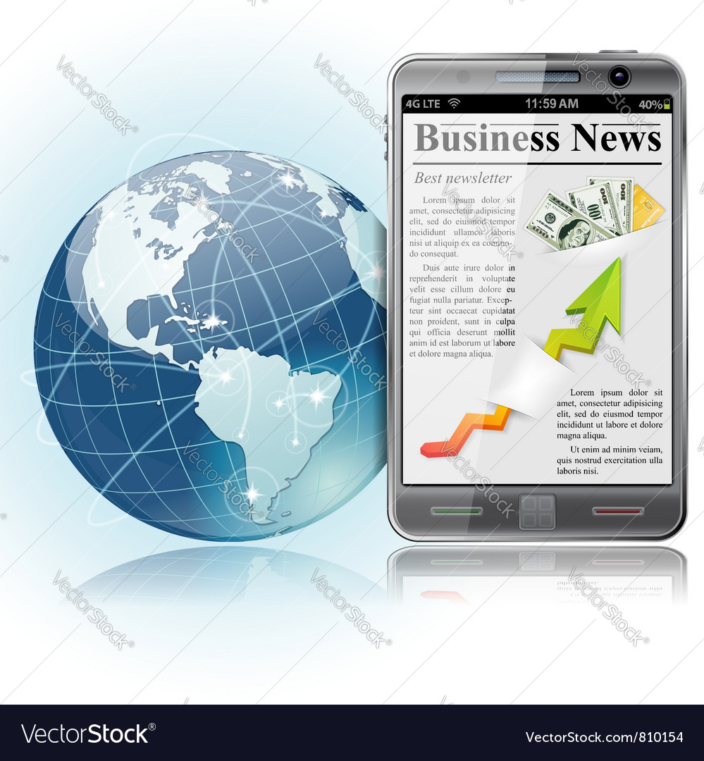 Iphone with news vector | Price: 3 Credit (USD $3)