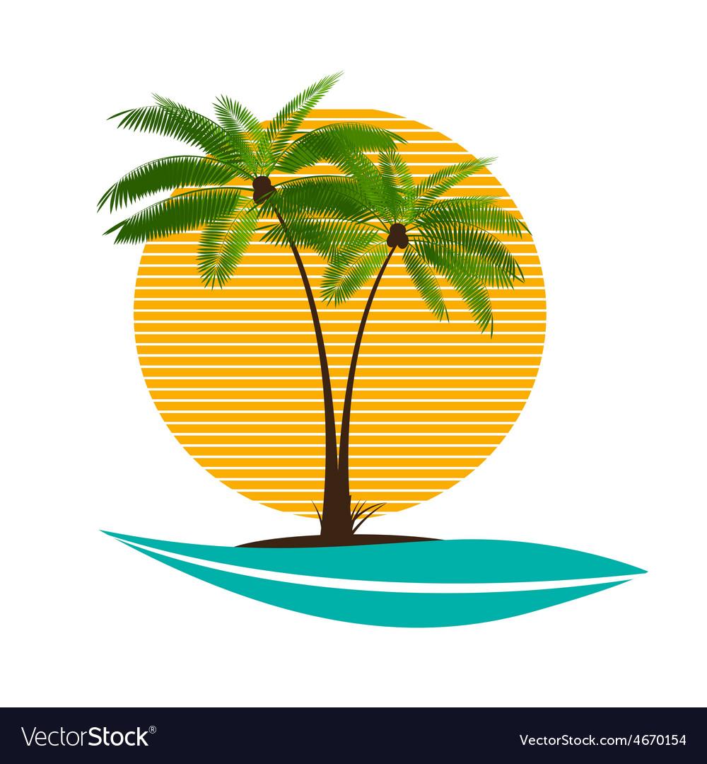 Palm leaf vector | Price: 1 Credit (USD $1)