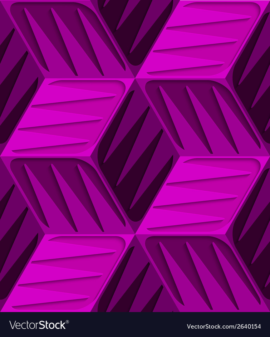 Pink 3d cubes with embossed texture seamless vector | Price: 1 Credit (USD $1)
