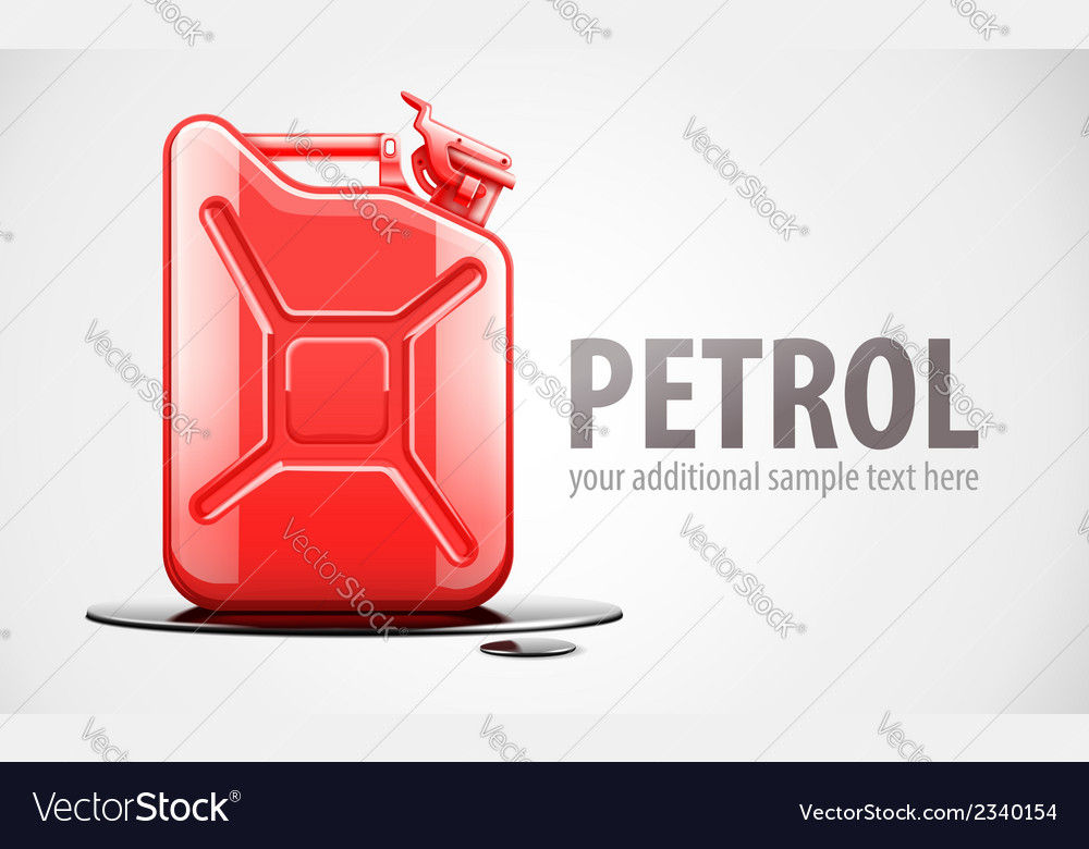 Red fuel canister for petrol vector | Price: 1 Credit (USD $1)