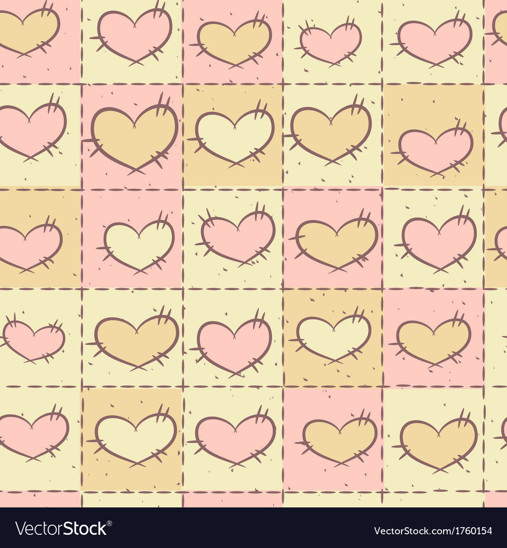 Seamless pattern with patchwork vector | Price: 1 Credit (USD $1)