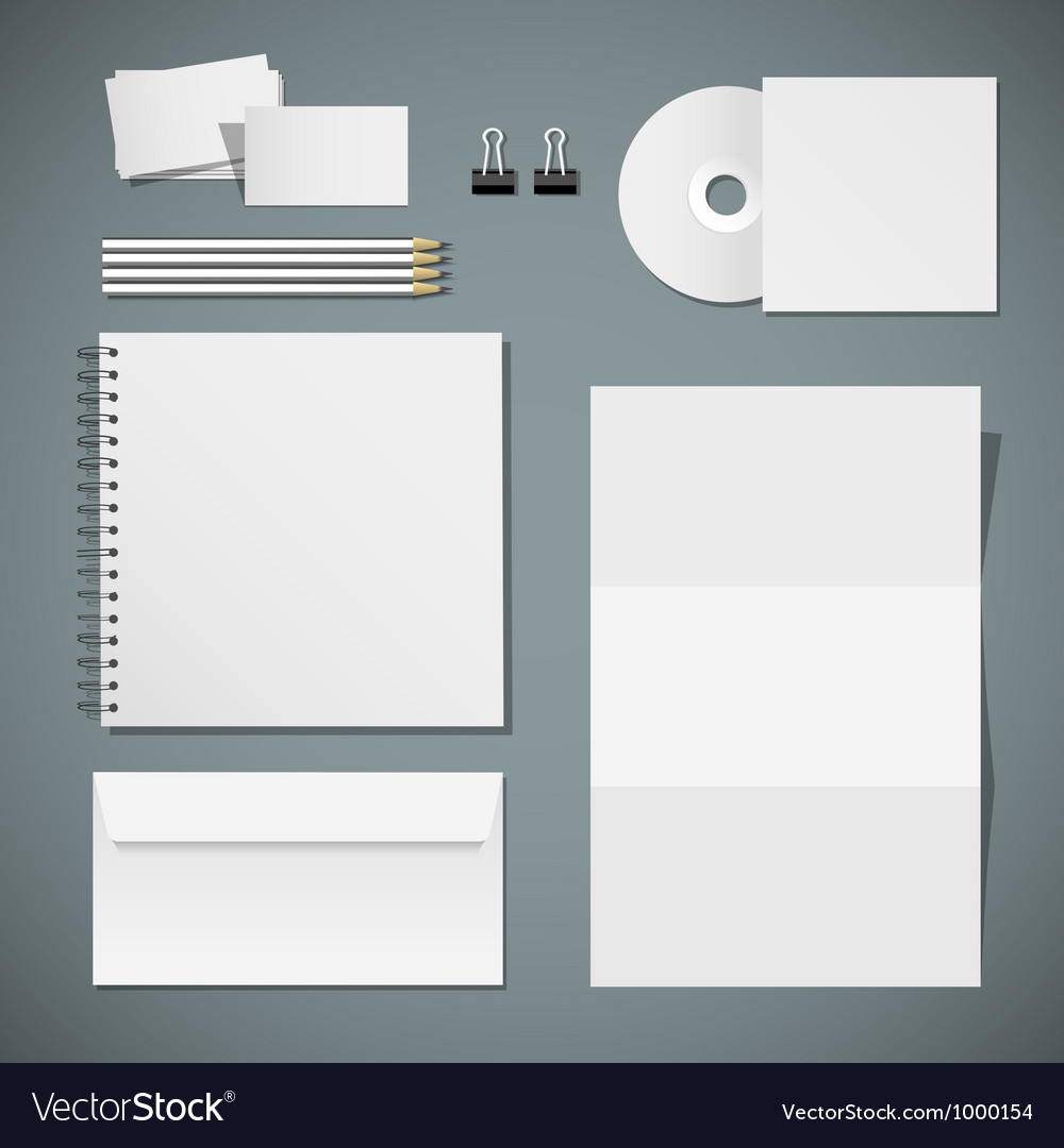 Set of corporate identity templates vector | Price: 3 Credit (USD $3)