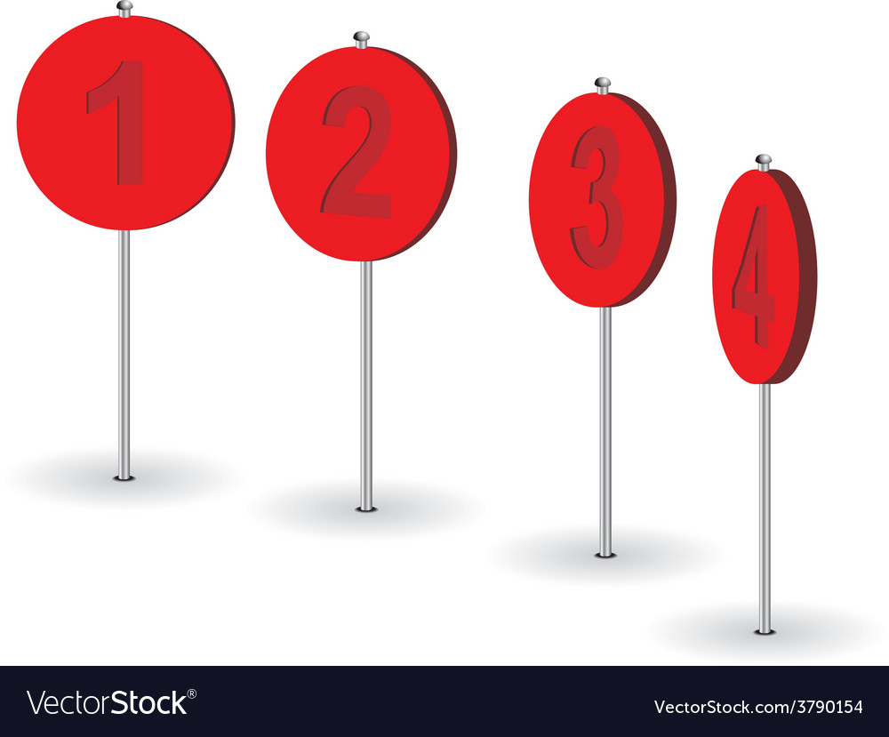 Set of numeral pins vector | Price: 1 Credit (USD $1)