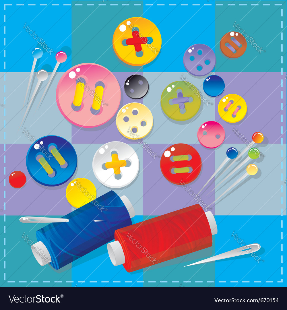 Sewing items vector | Price: 1 Credit (USD $1)