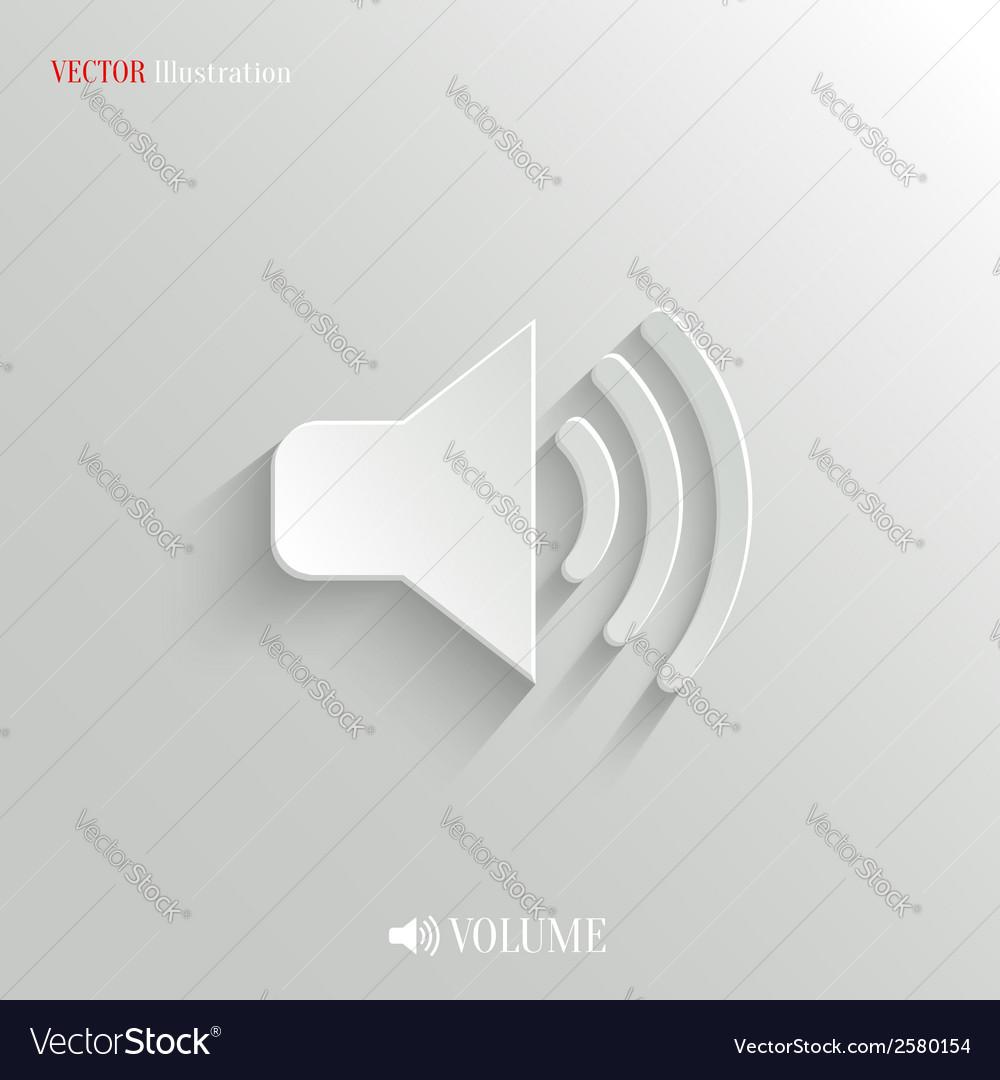 Speaker icon - white app button vector | Price: 1 Credit (USD $1)