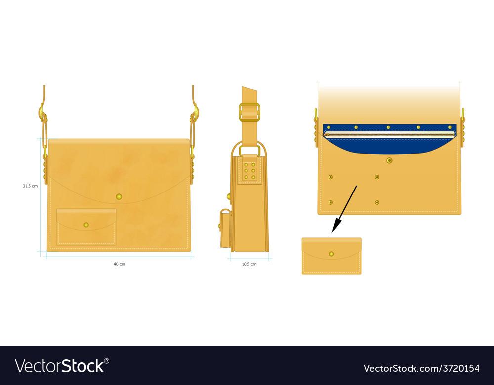 Square bag vector | Price: 1 Credit (USD $1)