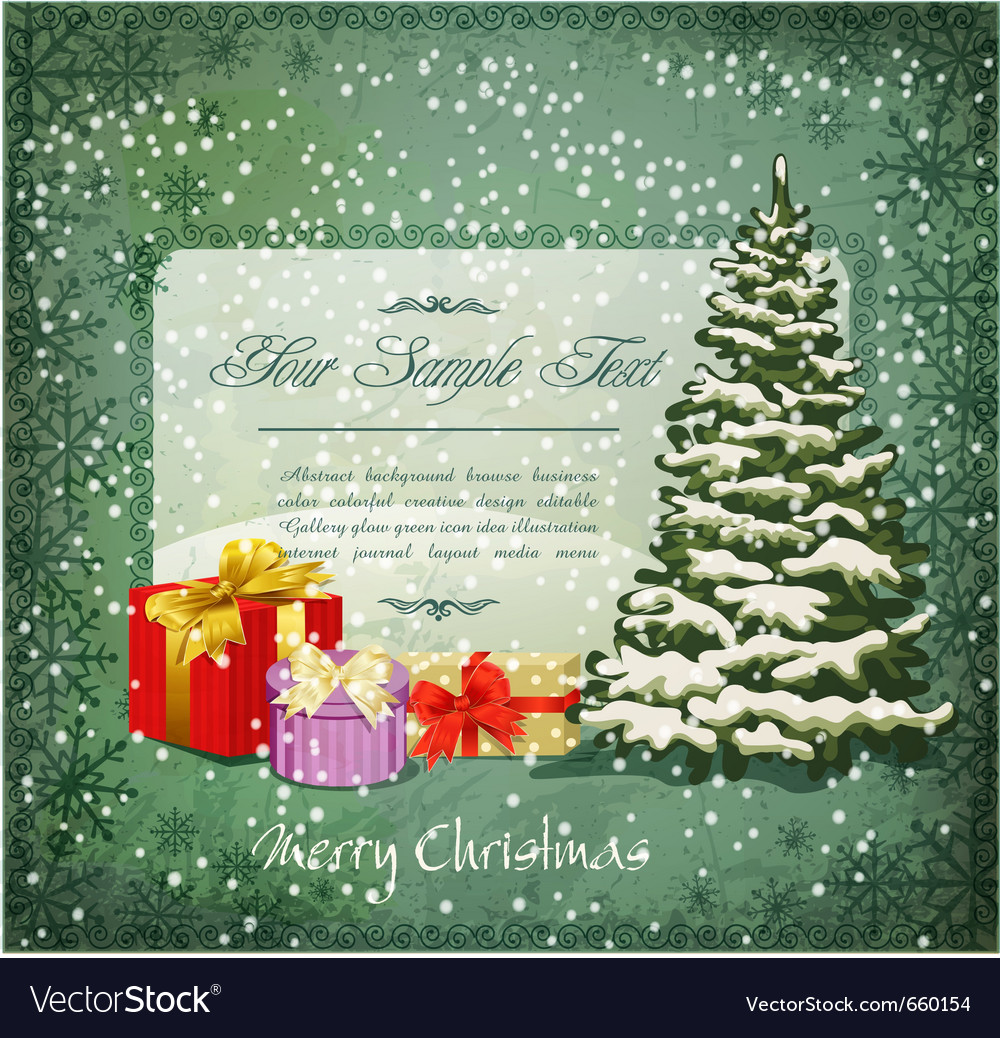 Vintage festive invitation vector | Price: 1 Credit (USD $1)