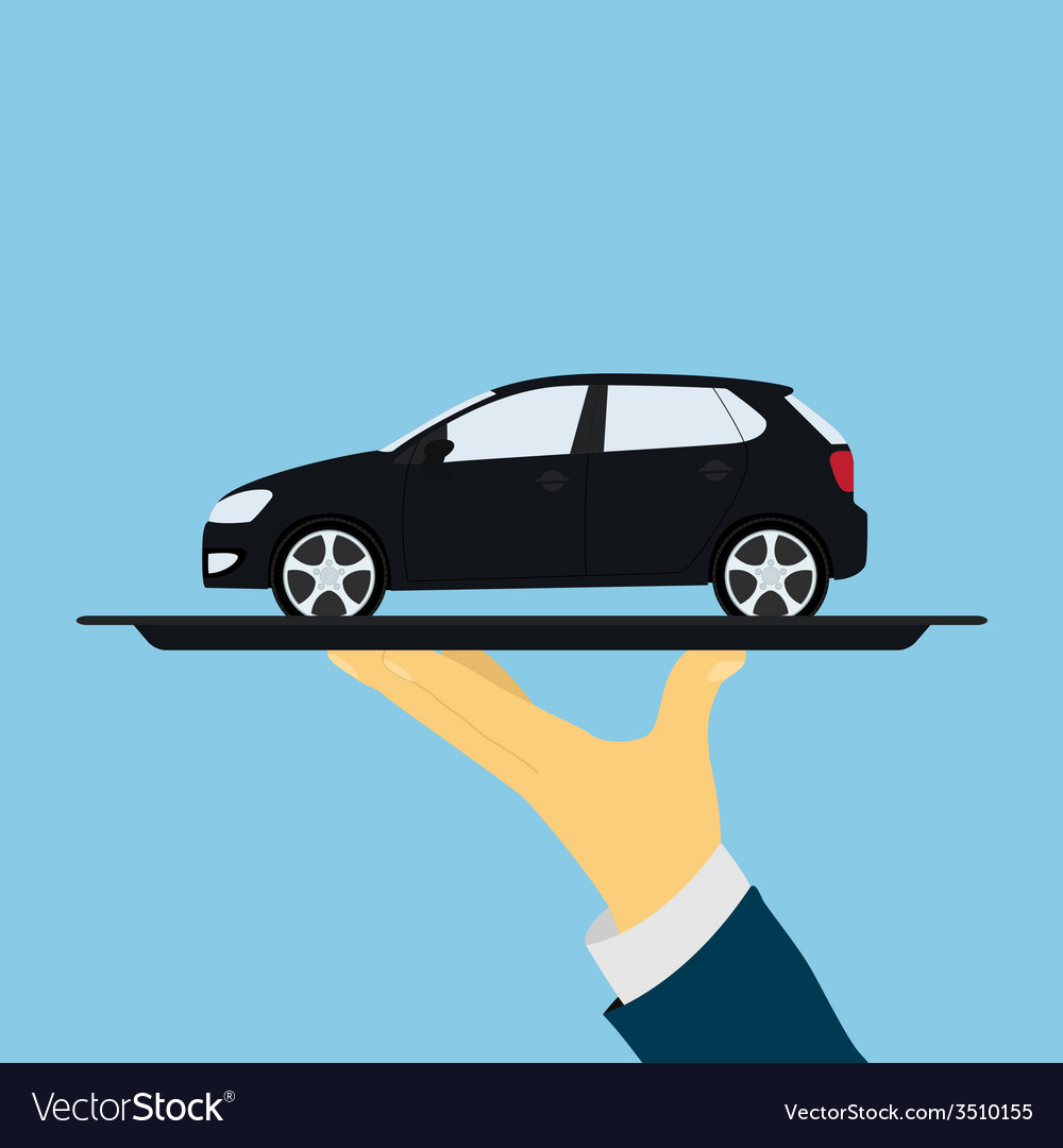 Car on tray vector   Price: 1 Credit (USD $1)