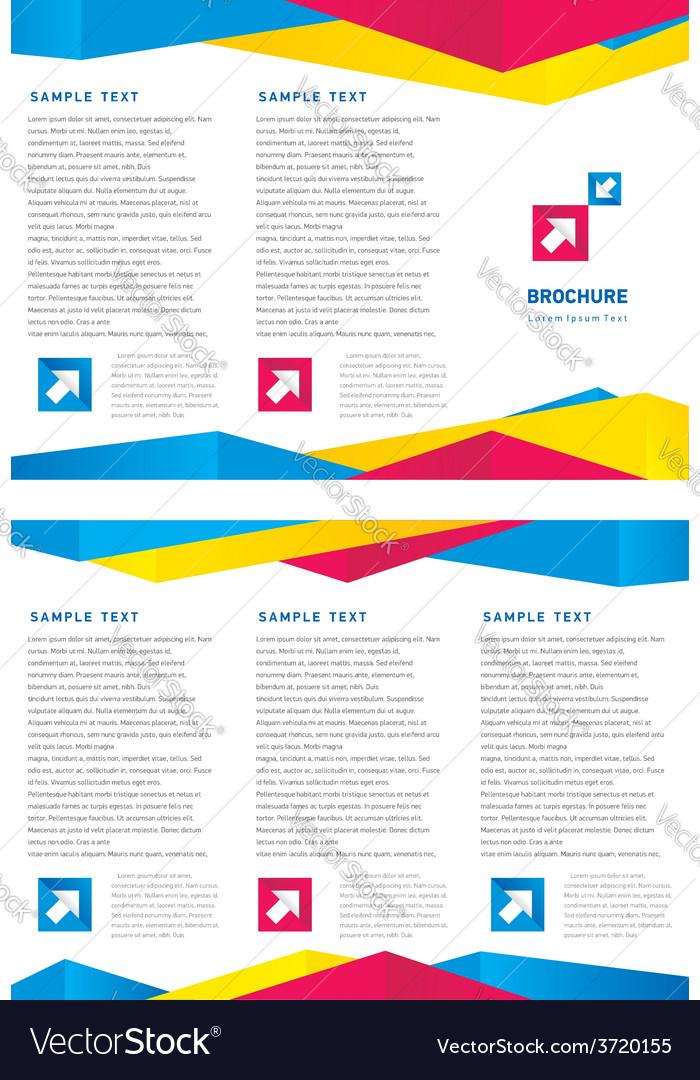 Creative design brochure tri-fold layout design vector | Price: 1 Credit (USD $1)