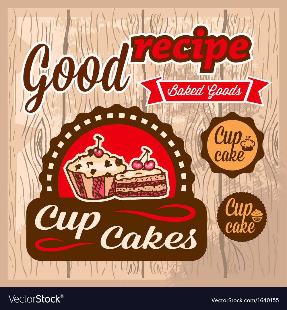 Cup cakes labels vector   Price: 1 Credit (USD $1)