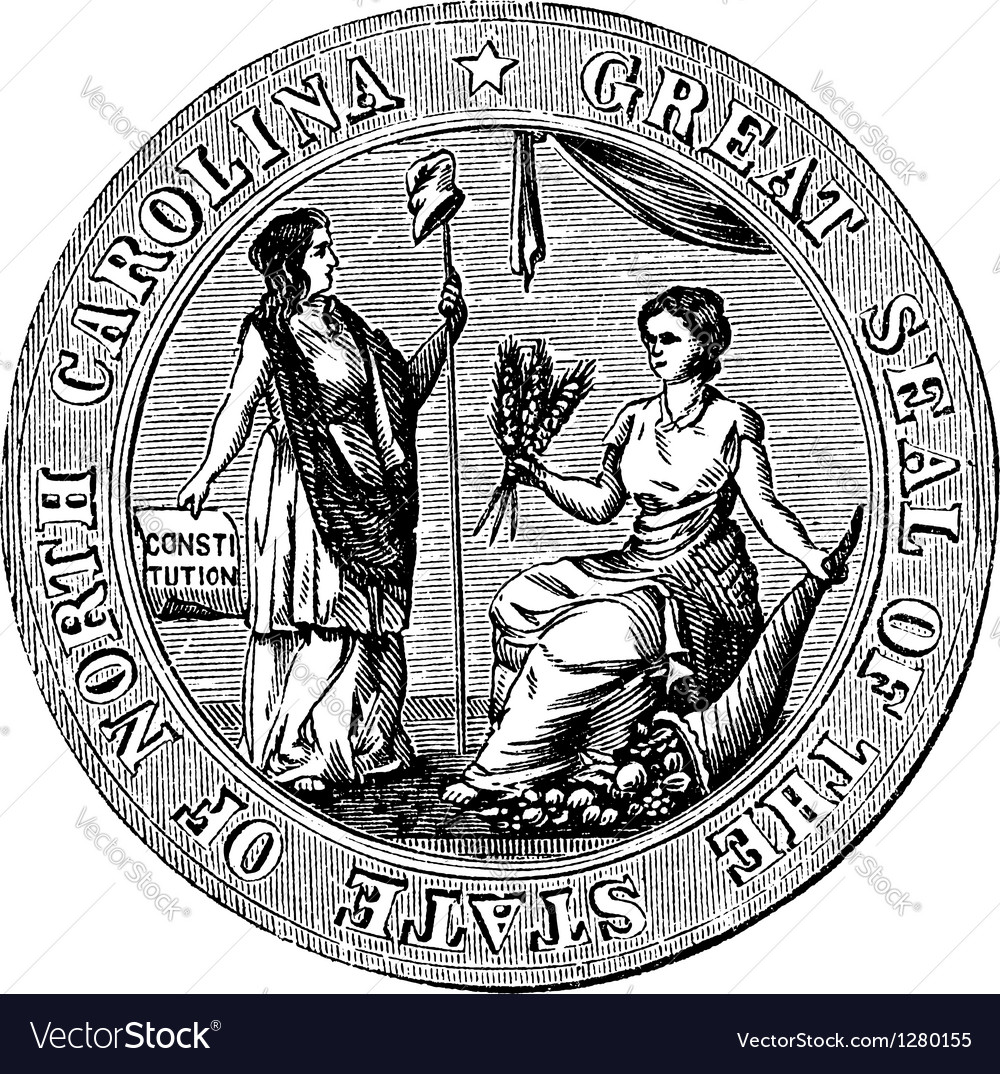 Great seal or hallmark of north carolina vintage vector | Price: 1 Credit (USD $1)