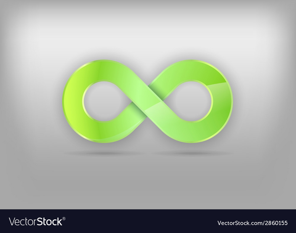 Infinity green vector | Price: 1 Credit (USD $1)