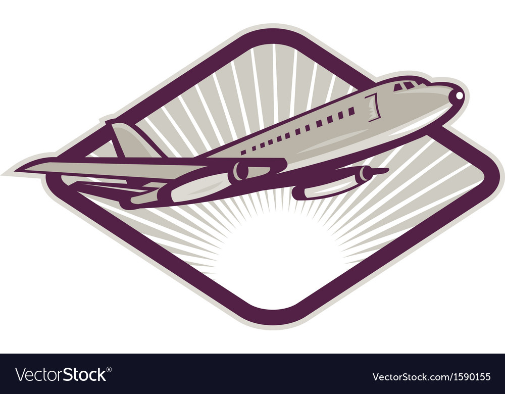 Jumbo jet airliner taking off vector | Price: 1 Credit (USD $1)