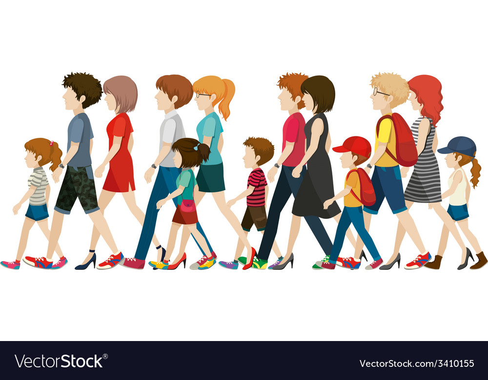 People without faces walking vector | Price: 1 Credit (USD $1)