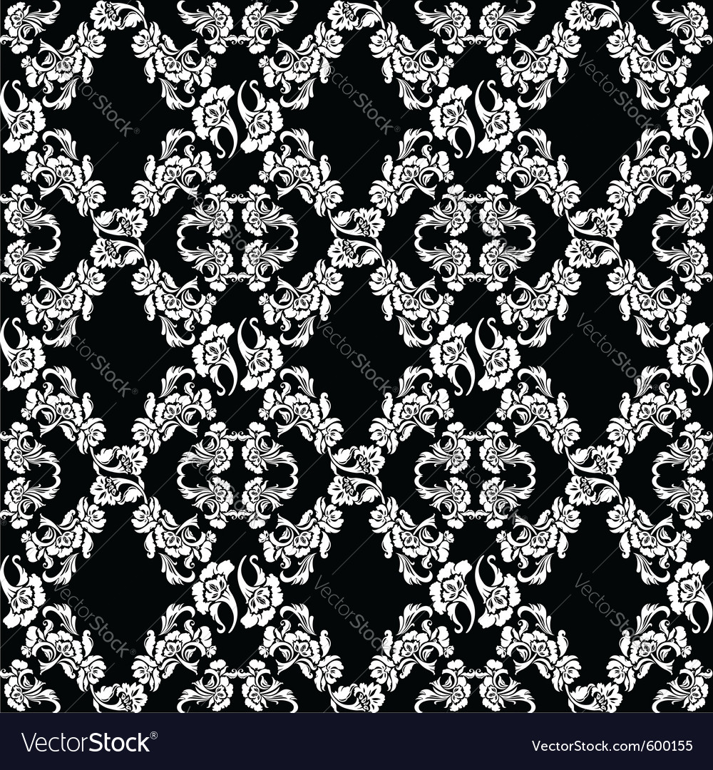 Seamless background flowers floral pattern vector | Price: 1 Credit (USD $1)