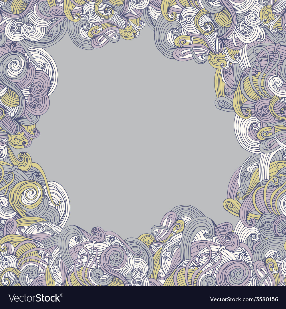 Abstract seamless hand-drawn frame vector | Price: 1 Credit (USD $1)