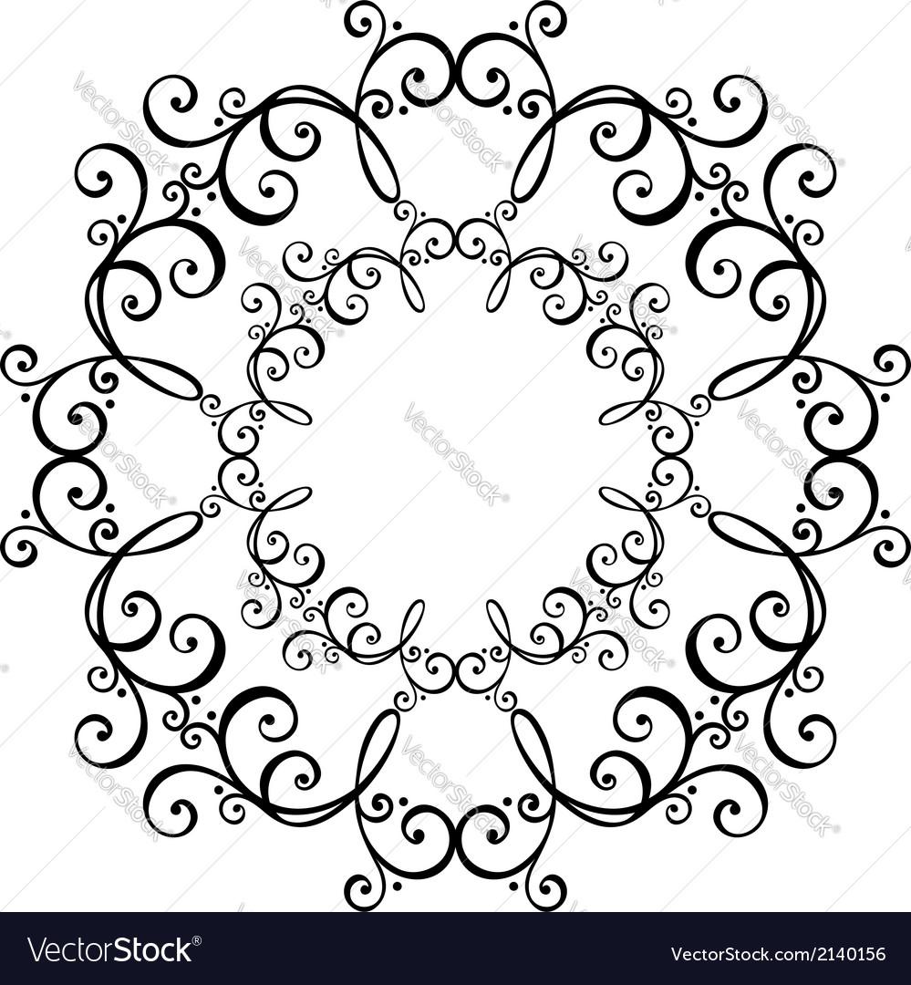 Beautiful deco circle vector | Price: 1 Credit (USD $1)
