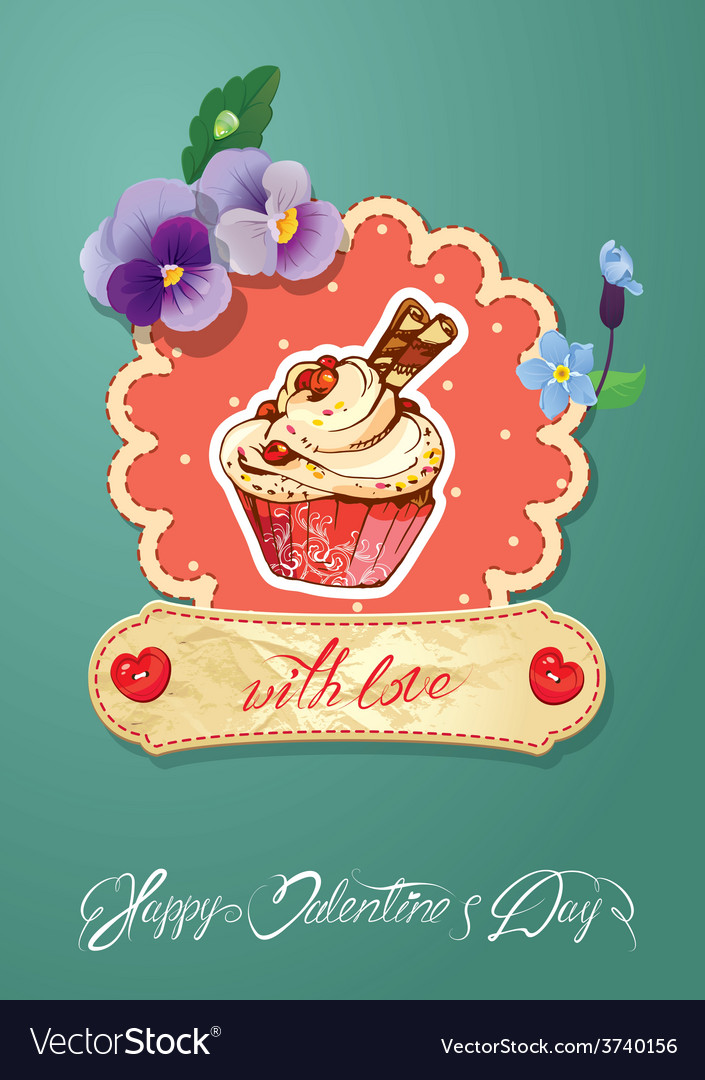 Card cake vector | Price: 1 Credit (USD $1)