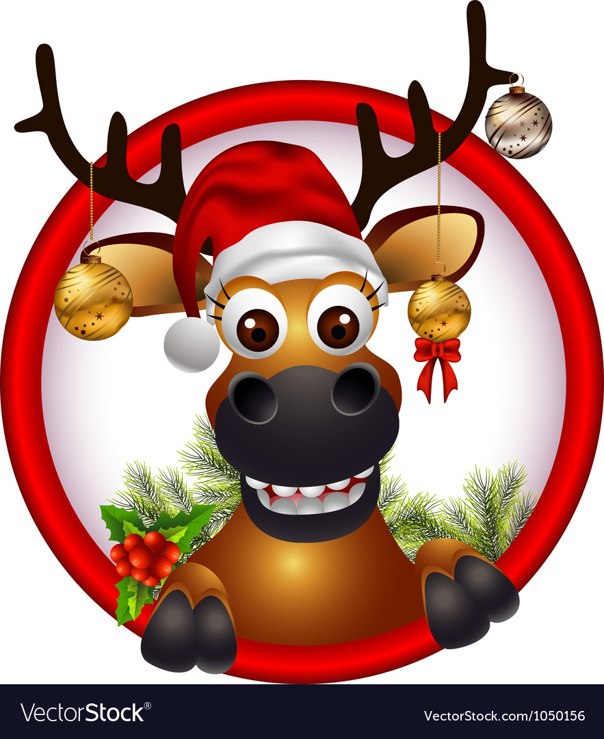 Christmas deer vector   Price: 1 Credit (USD $1)
