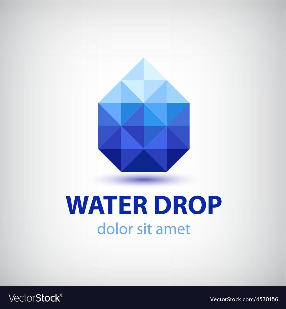 Crystal modern water drop logo icon vector | Price: 1 Credit (USD $1)