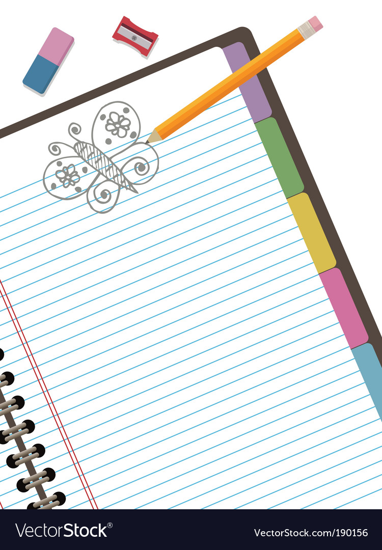 Doodle notebook vector | Price: 1 Credit (USD $1)