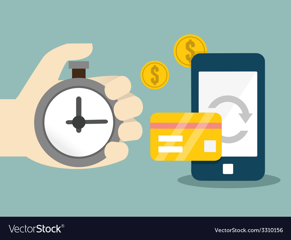 Flat concept of mobile banking and online payment vector | Price: 1 Credit (USD $1)