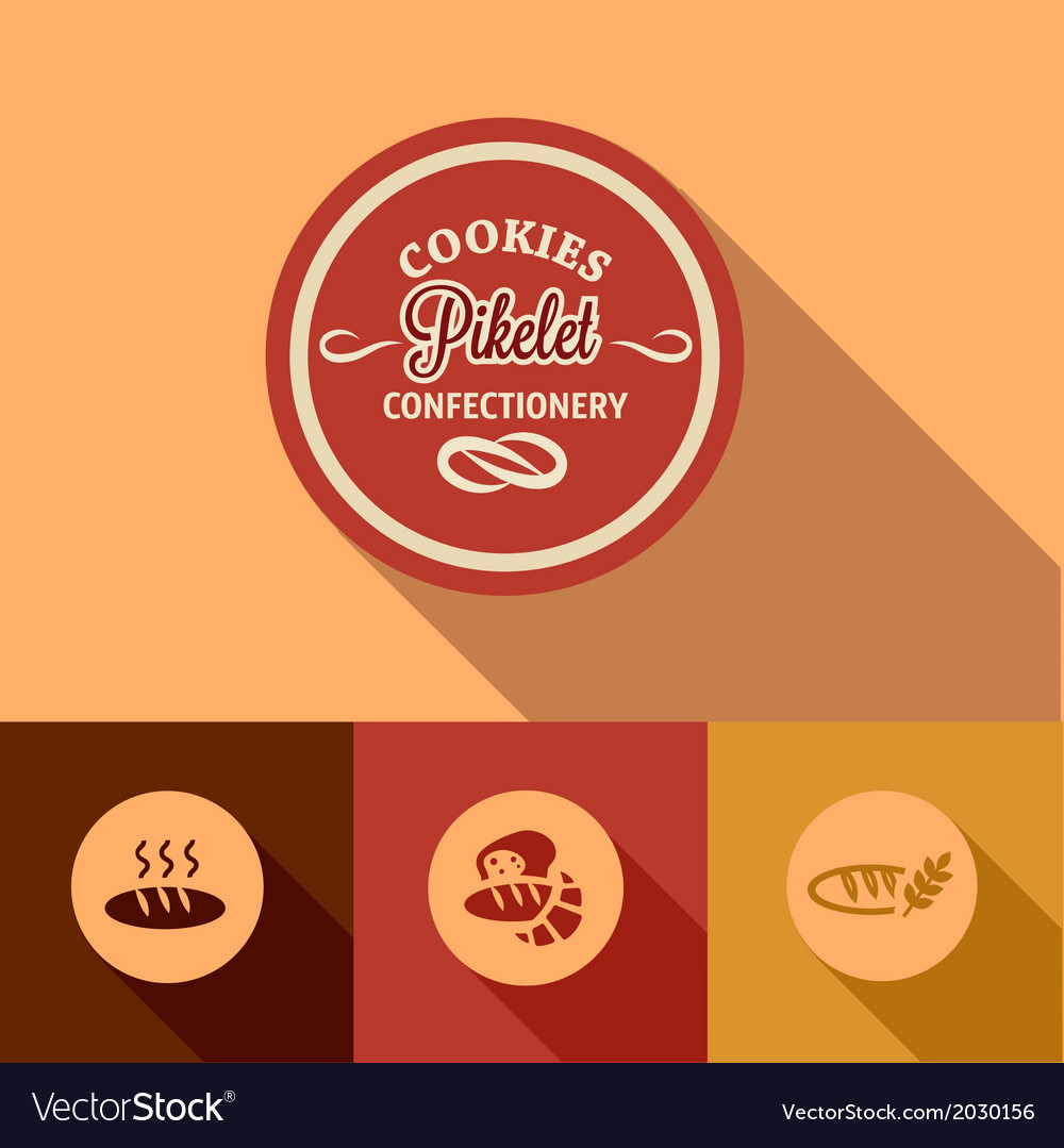 Flat pikelet confectionery design vector | Price: 1 Credit (USD $1)