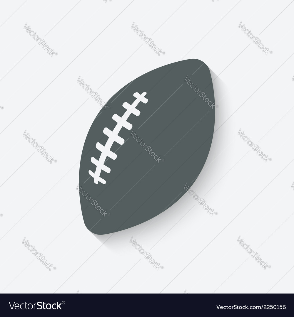 Football sport icon vector | Price: 1 Credit (USD $1)