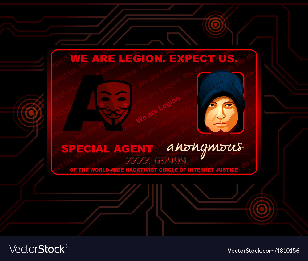 Hacker id card vector | Price: 1 Credit (USD $1)