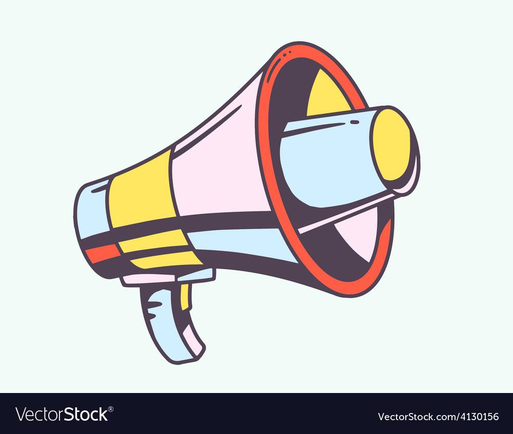 Loudspeaker on light background vector | Price: 1 Credit (USD $1)