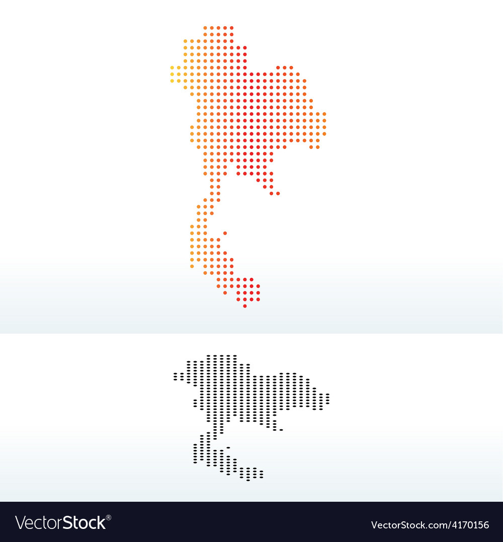 Map of kingdom thailand with dot pattern vector | Price: 1 Credit (USD $1)