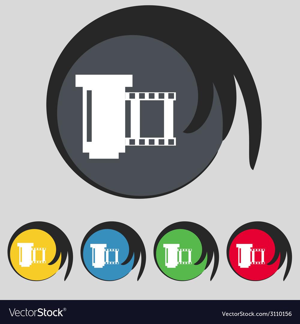 Negative films icon symbol set of colourful vector | Price: 1 Credit (USD $1)