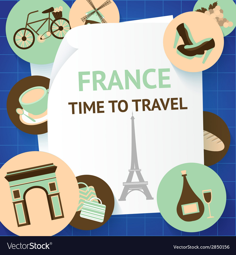 Paris background template vector   Price: 1 Credit (USD $1)