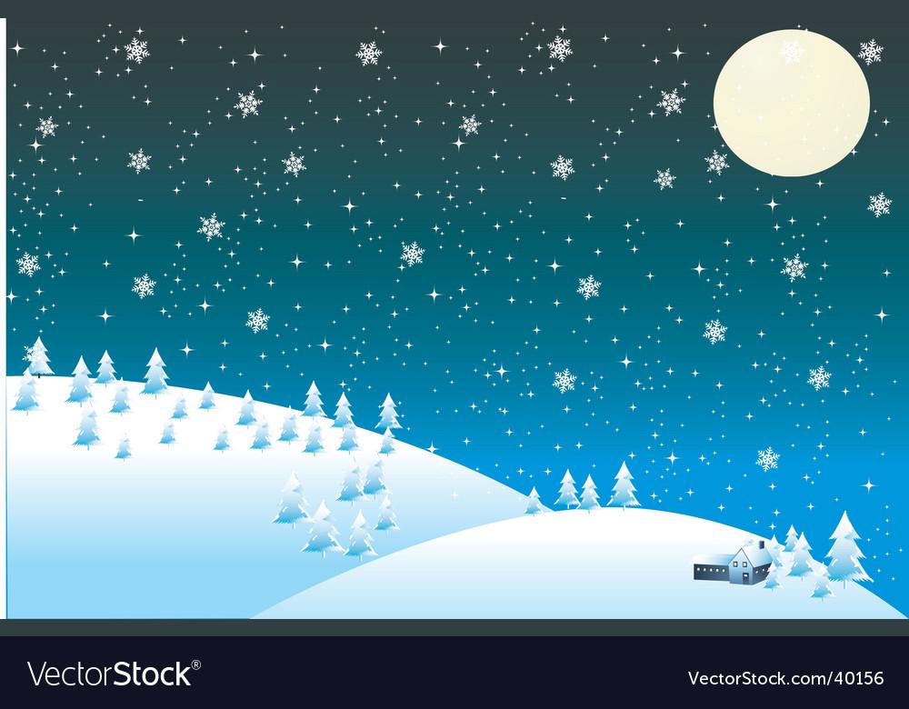 Winter snow vector | Price: 1 Credit (USD $1)