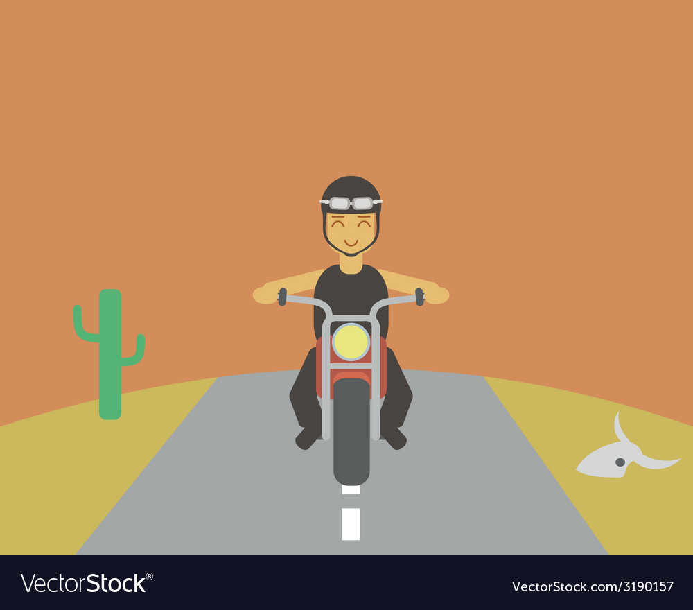 Boy driving bike vector | Price: 1 Credit (USD $1)