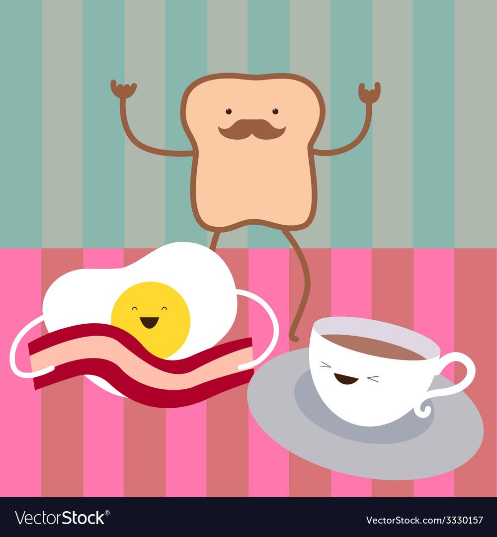 Breakfast characters vector | Price: 1 Credit (USD $1)