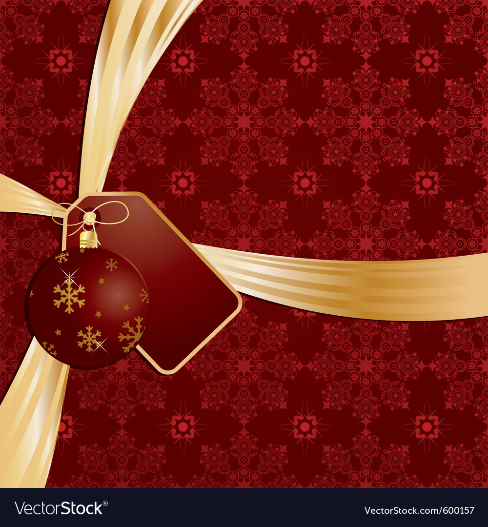 Christmas ribbon vector | Price: 3 Credit (USD $3)