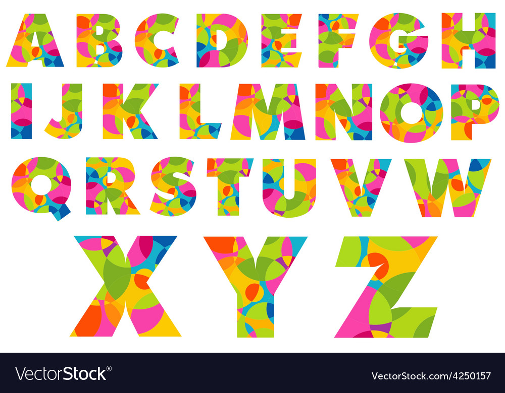 Colorful alphabet letters vector | Price: 1 Credit (USD $1)
