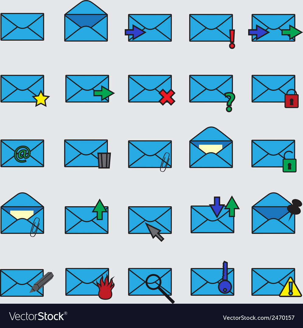 Computer mail simple blue icons eps10 vector   Price: 1 Credit (USD $1)