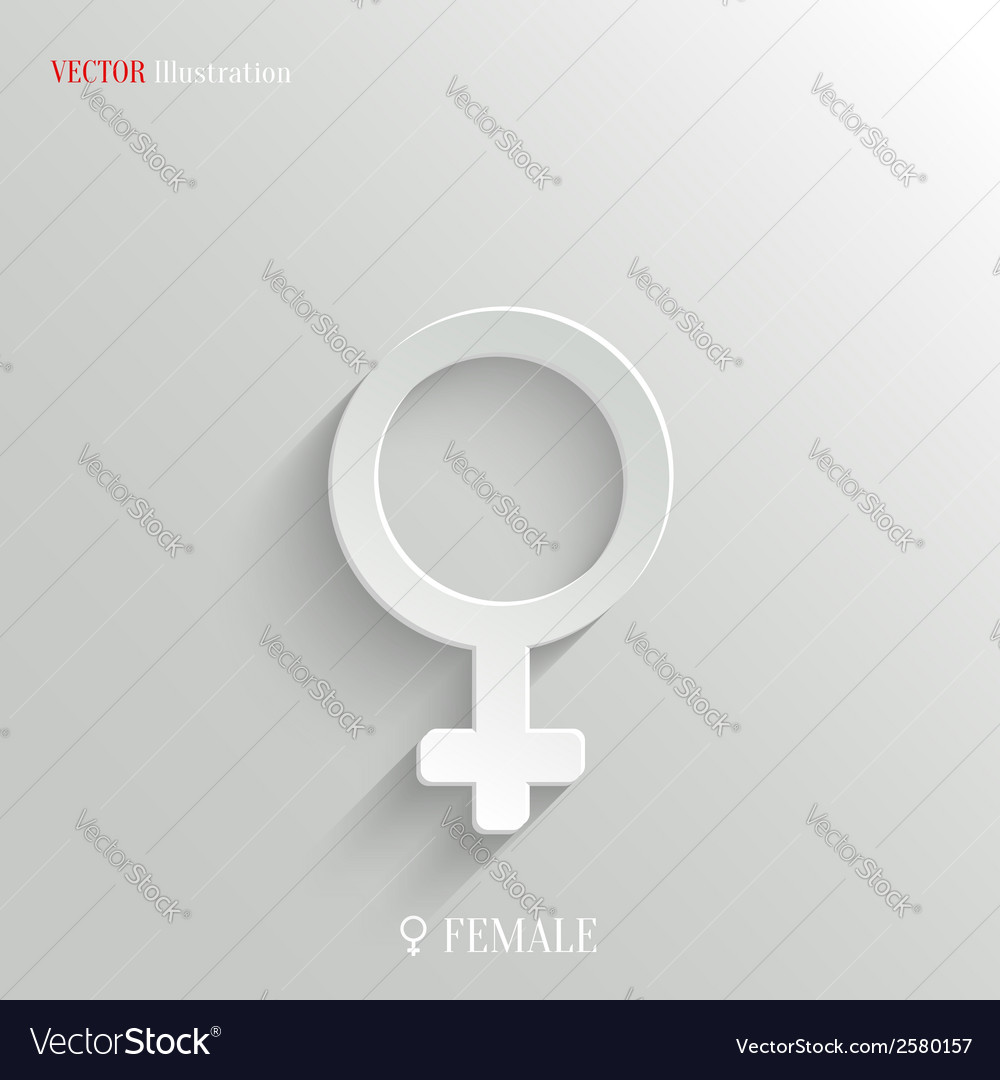 Female icon - white app button vector | Price: 1 Credit (USD $1)