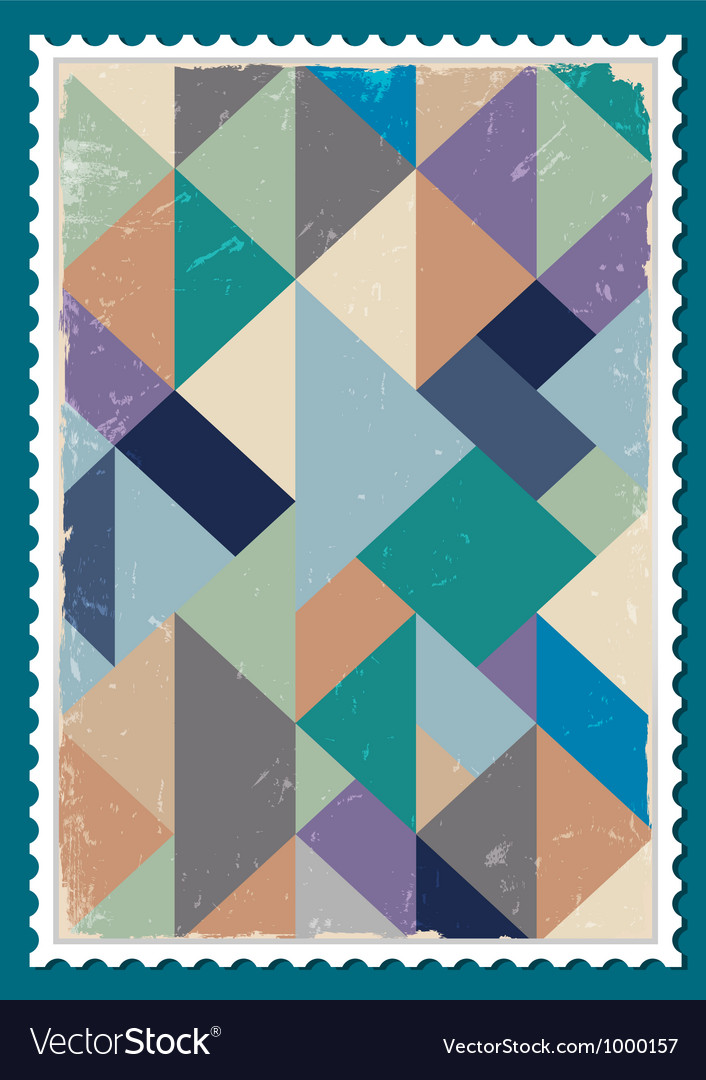 Post stamp vector | Price: 1 Credit (USD $1)