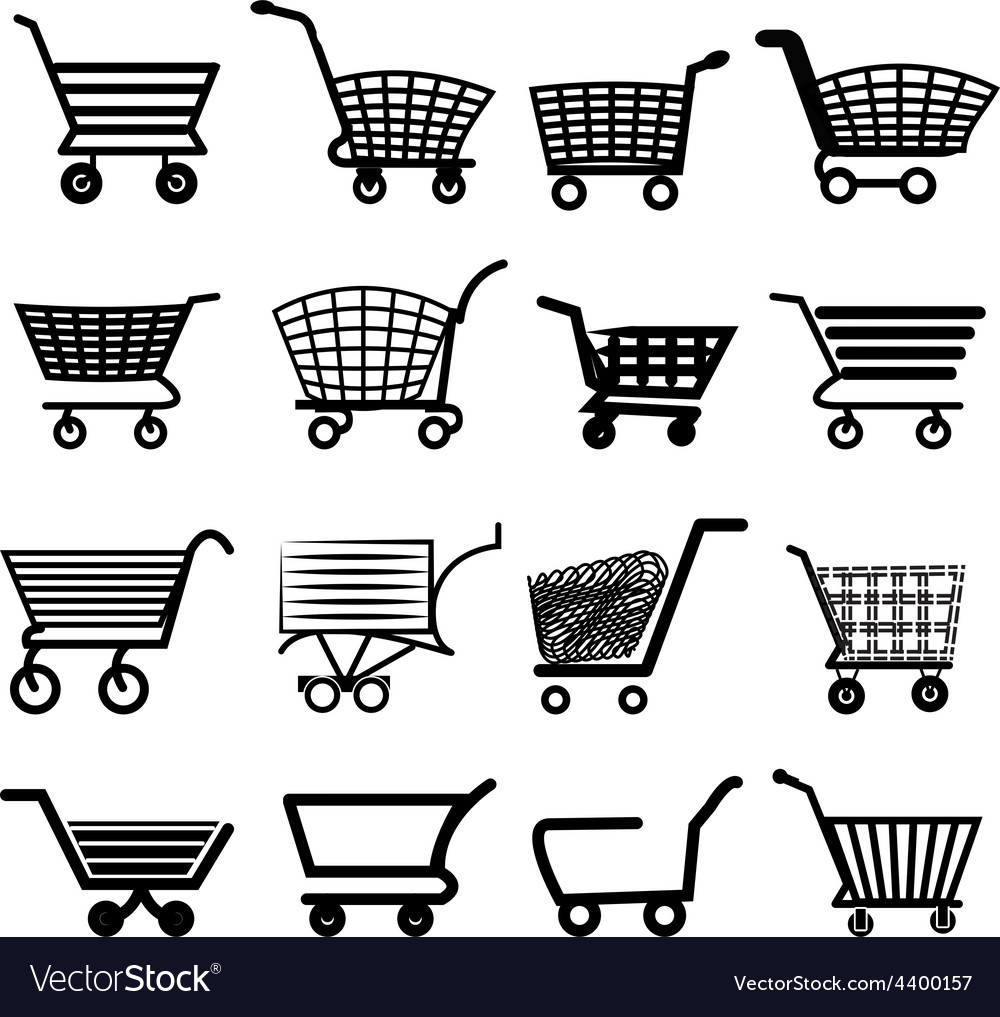 Shopping cart icons set vector | Price: 3 Credit (USD $3)