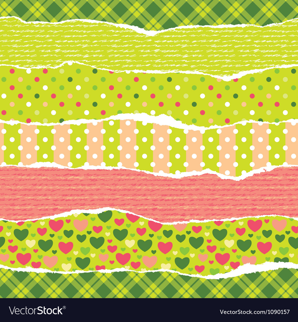 Torn wrapping paper with christmas patterns vector | Price: 1 Credit (USD $1)