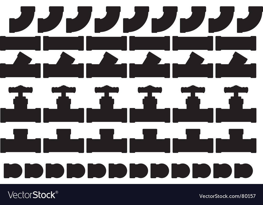 Valves and fittings vector | Price: 1 Credit (USD $1)
