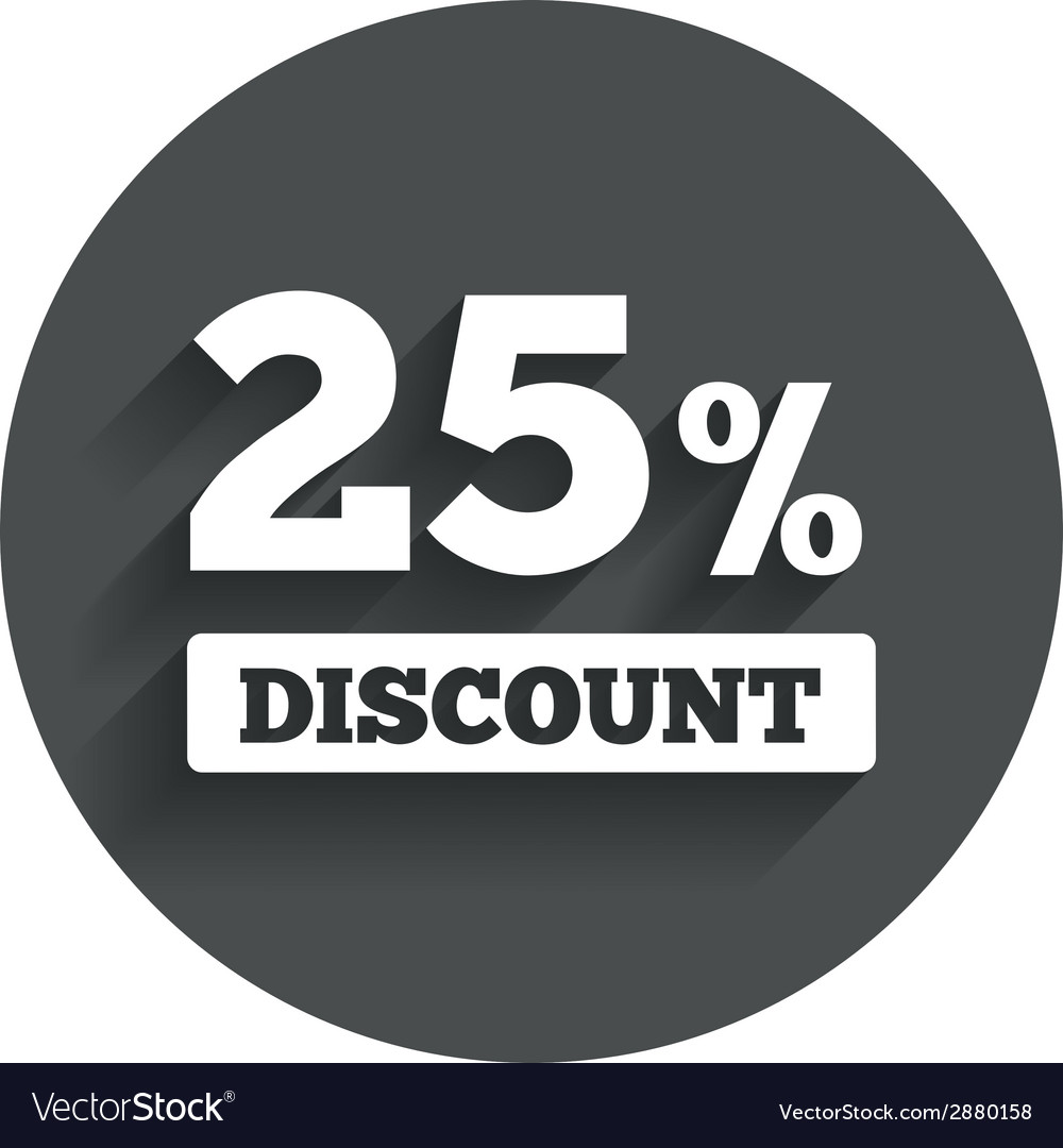 25 percent discount sign icon sale symbol vector   Price: 1 Credit (USD $1)