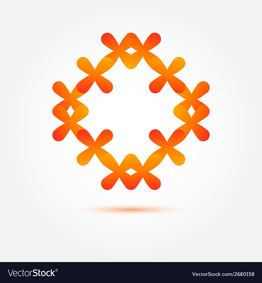 Abstract symbol in orange colors made of many vector | Price: 1 Credit (USD $1)