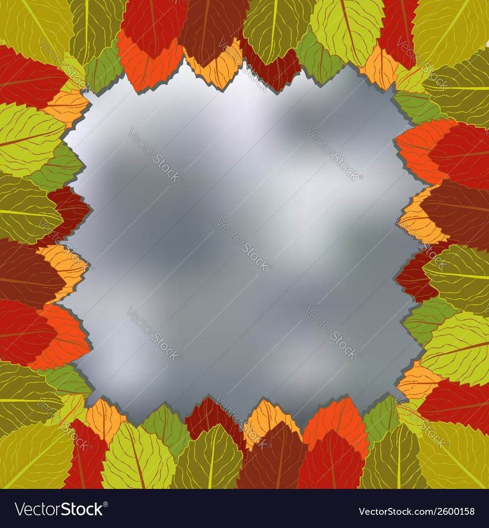 Autumn foliage blurred background vector | Price: 1 Credit (USD $1)