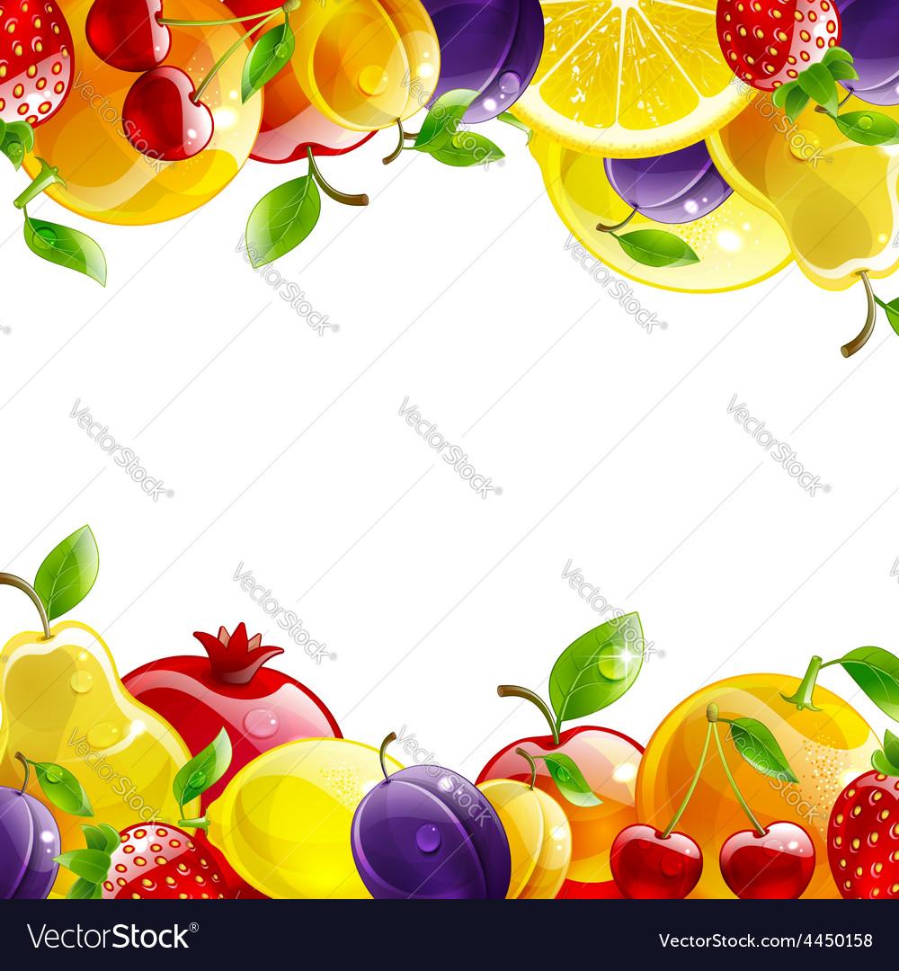 Banner of fresh fruit vector | Price: 1 Credit (USD $1)
