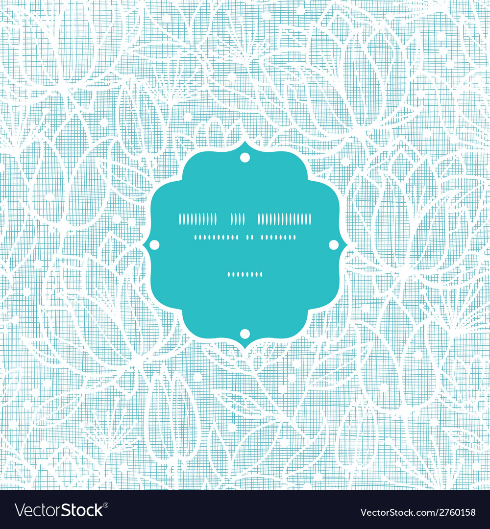 Blue lace flowers textile frame seamless pattern vector | Price: 1 Credit (USD $1)