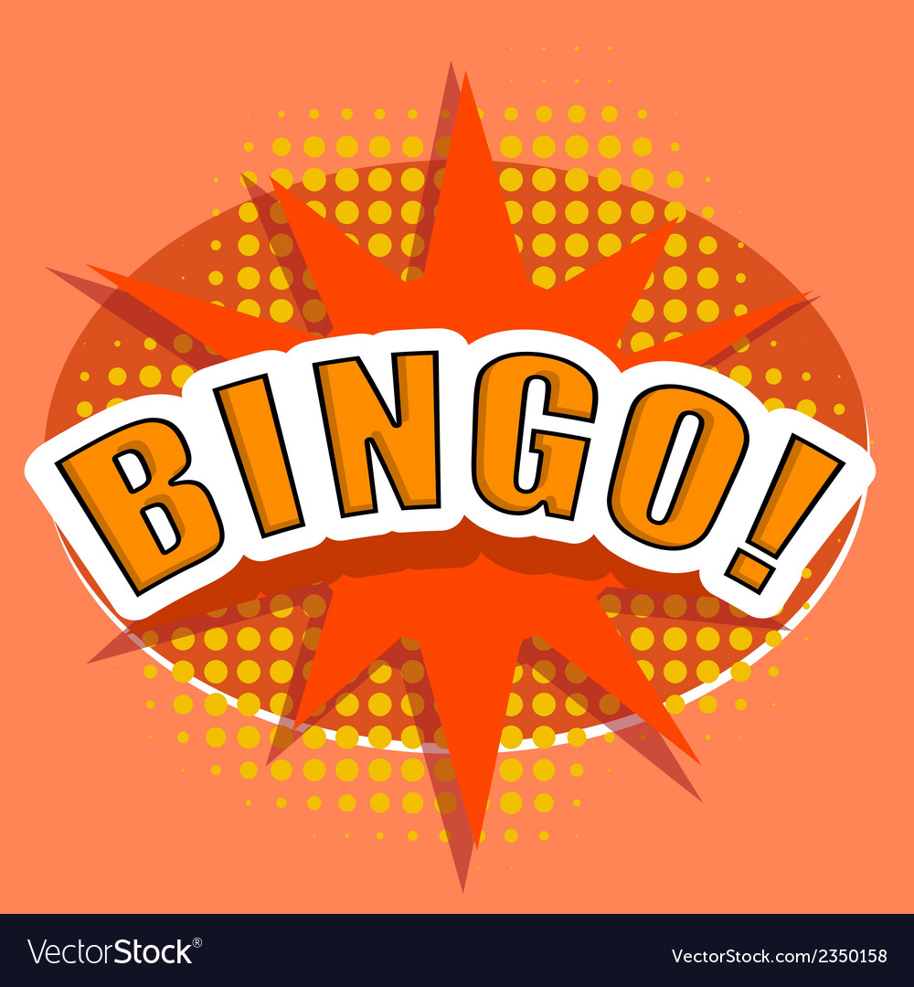 Cartoon bingo design element vector | Price: 1 Credit (USD $1)